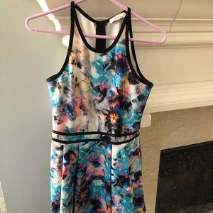 Neiman Marcus Parker Colorful Dress